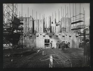 Veduta del cantiere per la Nuova Sede Pirelli: la costruzione della punta Galvani sino a quota +16.6