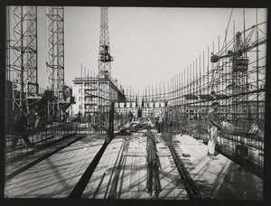 Construction of the Pirelli Centre - 17 April 1957 - photo by Publifoto