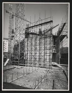 Una fase della costruzione della Nuova Sede