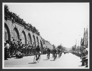 L'arrivo dei corridori a Brescia