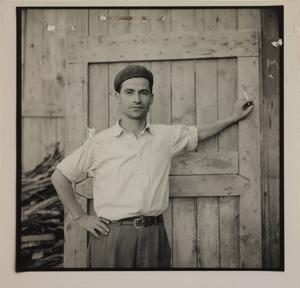 Ottobre 1956, il custode del cantiere