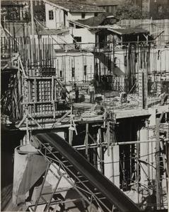 29 ottobre 1956, veduta del cantiere del Centro Pirelli