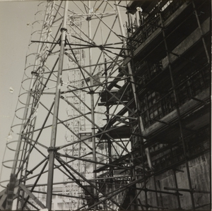 Construction of the Pirelli Centre - 25 February 1957 - photo Calcagni