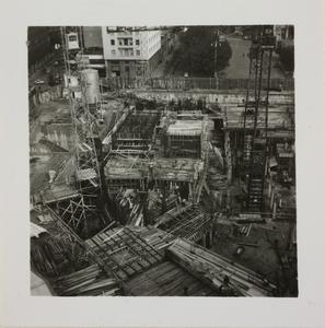 Veduta dall'alto del cantiere del Centro Pirelli
