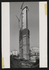 Construction of the Pirelli Centre - February 1959 - photo by Publifoto
