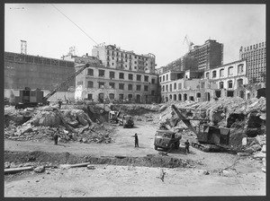 "The demolition of the ""Brusada"" - August 1955 - photo by Ballo"