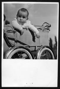Servizio fotografico su biciclette, carrozzine e furgoncini a pedali - foto Patellani