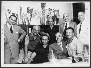 I piloti Gigi Villoresi, Juan Manuel Fangio e Dorino Serafini nel dicembre 1949