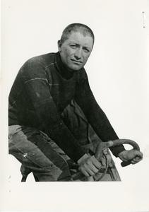 Il corridore ciclista Giovanni Gerbi (1858-1955) nel 1934