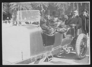 Benito Mussolini in an Alfa Romeo